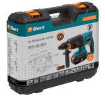 Bort BHD-18Li-BLZ akkumulátoros fúrókalapács 2,2J (1 +1 ajándék akkumulátor 3Ah) + szénkefe mentes motor + koffer