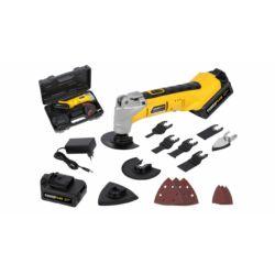 Powerplus sárga multifunkciós szerszám akkumulátoros 18V POWX1331LI