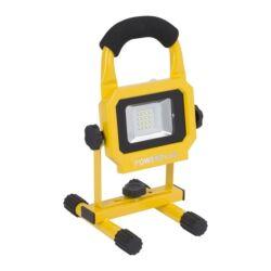 PowerPlus POWLI226 sárga LED reflektor 10W akkumultáros