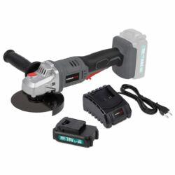 Powerplus akkumulátoros sarokcsiszoló szett akkuval töltővel