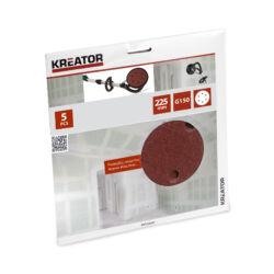 5db csiszoló korong falcsiszolóhoz, Ø225mm, G150 (KRT232007)