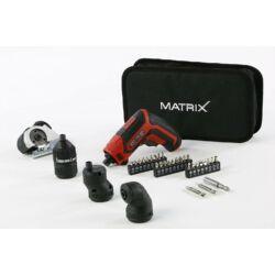 Matrix AK-4 Quattro akkumulátoros csavarozó 4 cserélhető fejjel
