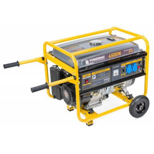 Powermat generátor aggregátor 6500W, kerekekkel