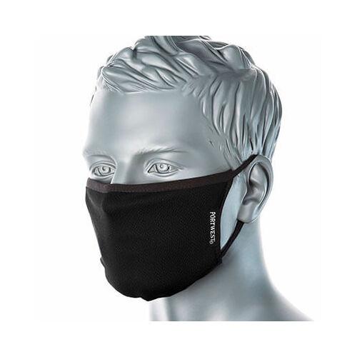 Portwest 3 rétegű textil arcmaszk anti-mikrobiális CV33 fehér
