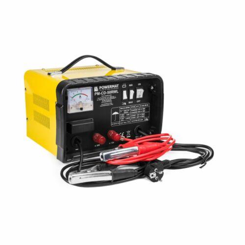 Powermat PM-PC-50RWL Akkumulátor Töltő, 12/ 24V-os akkumulátorokhoz