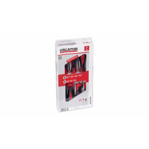 Kreator csavarhúzó készlet 7 részes mágneses SL/PH KRT400002