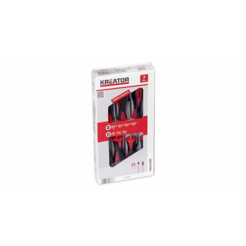 Kreator csavarhúzó készlet 7 részes mágneses SL/PZ KRT400003