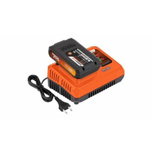 Powerplus POWDP9062 töltő 20 / 40V + AKKUMULÁTOR 20V 2,0 AH