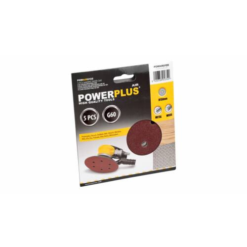 PowerPlus csiszolólap P60 5db POWAIR0122