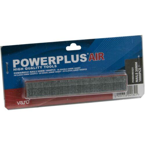 PowerPlus tűzőszeg B 20mm 1000db POWAIR0321