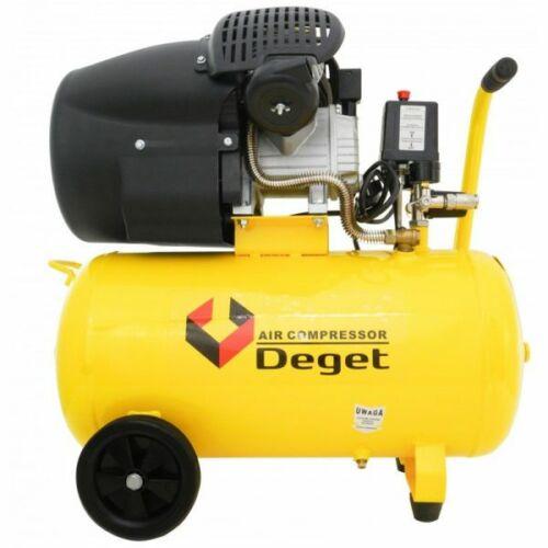 Deget 50 Literes 2 hengeres olajos kompresszor, 440L/perc
