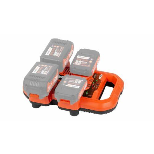 PowerPlus Dual Power multifunkciós töltő 20V/40V (4 akku+1 USB) POWDP9055