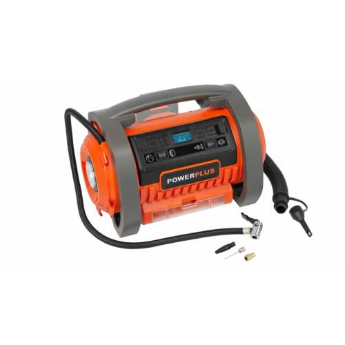 PowerPlus Dual Power akkus kompresszor alapgép 20V+220V POWDP7030 akku nélkül