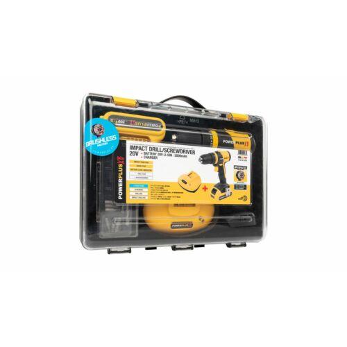 Powerplus POWXB10060 Akkumulátoros ütvefúró-csavarozó szett