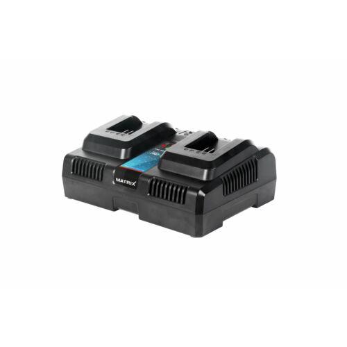 MATRIX Power X-One TWIN 20V dupla férőhelyes akkutöltő
