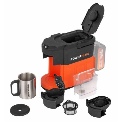 POWERPLUS Akkumulátoros kávéfőző akkumulátorral töltővel 40V