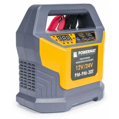 Powermat PM-PM-30T Akkumulátor töltő egyenirányító, mikroprocesszorral, 12 / 24V, 30A